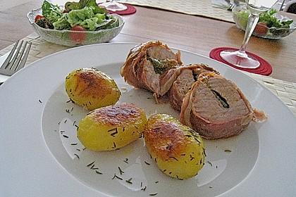 Gefüllte Schweinefilets mit Parmaschinken 23