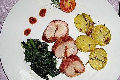 Gefüllte Schweinefilets mit Parmaschinken 9
