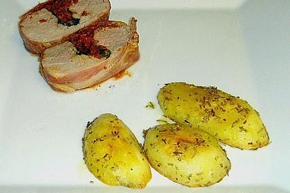 Gefüllte Schweinefilets mit Parmaschinken 62