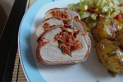 Gefüllte Schweinefilets mit Parmaschinken 12