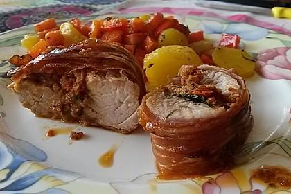 Gefüllte Schweinefilets mit Parmaschinken 3