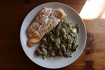 Gnocchi mit Spinat - Gorgonzolasoße 2