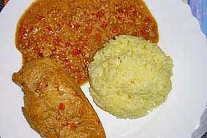 Hähnchen mit Reis 89