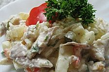 Huhn - Reis - Salat