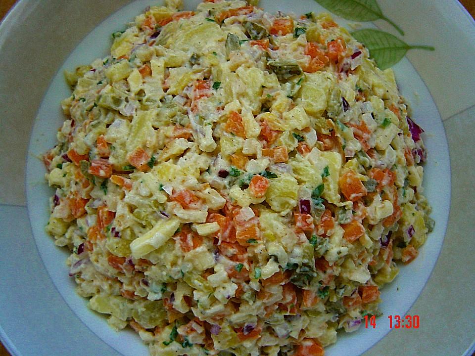 Gemuse kartoffel salat