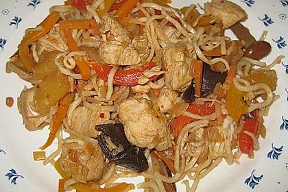 Scharfes Gemüse mit Hühnerfleisch