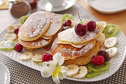 Amerikanische Pancakes 1
