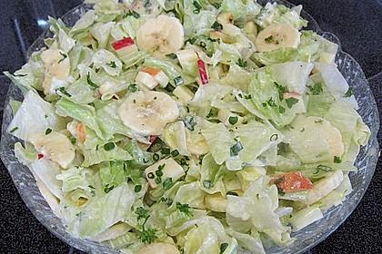 Eisbergsalat mit fruchtiger Note und Joghurt - Dressing 3