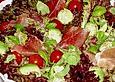 Salat mit Parmaschinken in Honig - Balsamico - Dressing