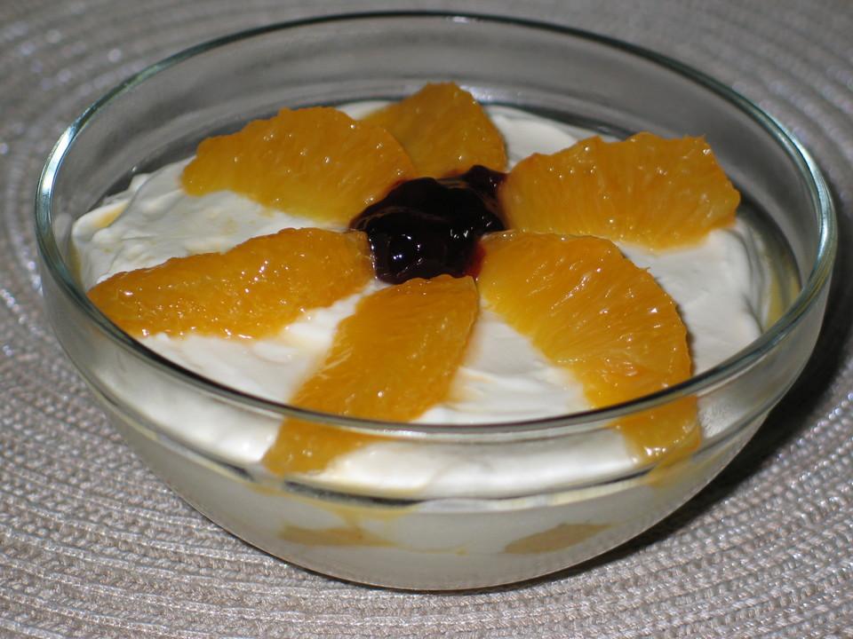 mascarpone orangen dessert rezept mit bild von rest. Black Bedroom Furniture Sets. Home Design Ideas