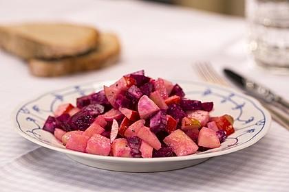 Rote Bete - Apfel - Salat 13