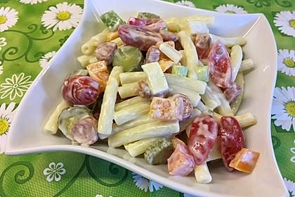 Nudelsalat mit Mayonnaise - Gurkenbrühe - Dressing 12