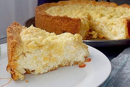 Käsekuchen mit Pudding , Grieß und Streuseln 7