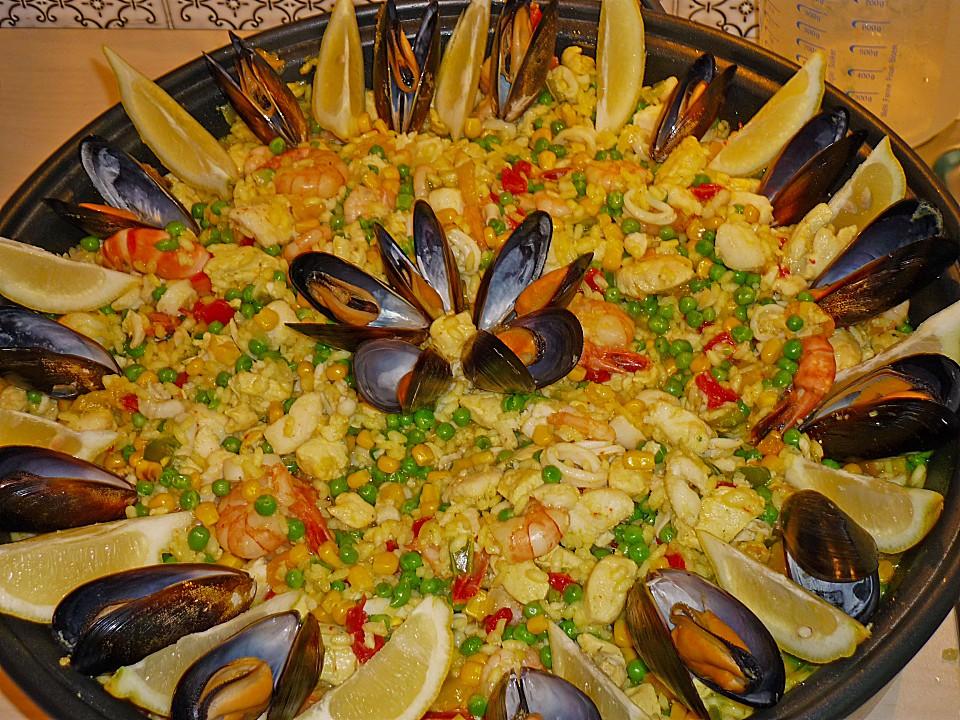 Rezept backofen paella rezept einfach for Einfache essen kochen