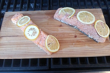 Plank-grilled Lachs 8