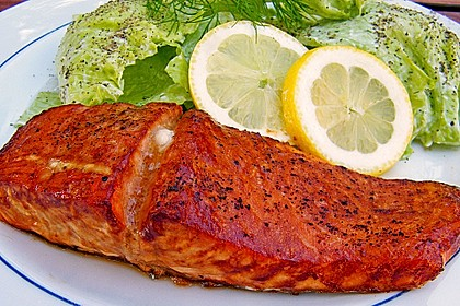 Plank-grilled Lachs 4