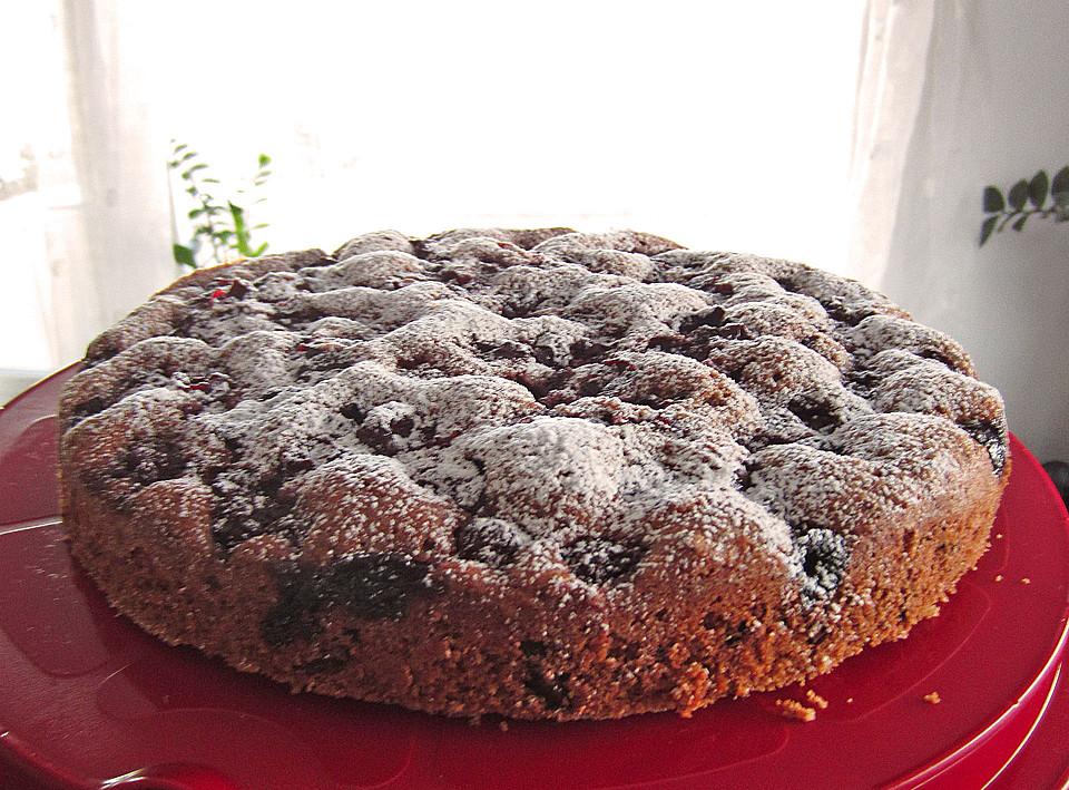 Rezept kirsch schoko kuchen mit nussen