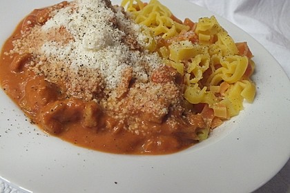 Spaghetti Bolognese vegetarisch, à la Strohhalm