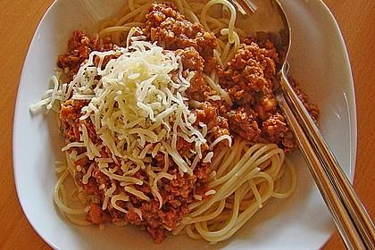 Spaghetti Bolognese vegetarisch, à la Strohhalm 2