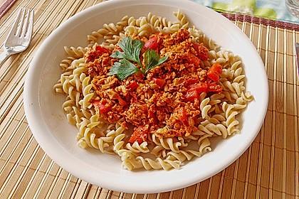 Spaghetti Bolognese vegetarisch, à la Strohhalm 1