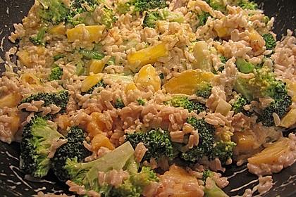 Reispfanne mit Mango und Brokkoli 1