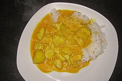Gelbes Hühner - Curry aus dem Wok 1