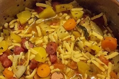 15 Minuten Gemüse-Nudel-Suppe 89