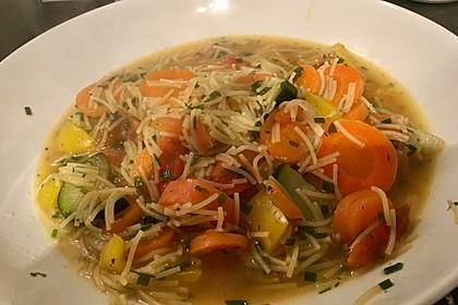 15 Minuten Gemüse-Nudel-Suppe 88
