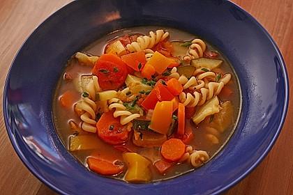 15 Minuten Gemüse-Nudel-Suppe 14