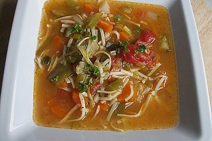 15 Minuten Gemüse-Nudel-Suppe 19