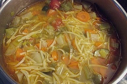 15 Minuten Gemüse-Nudel-Suppe 61