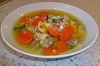 15 Minuten Gemüse-Nudel-Suppe 21