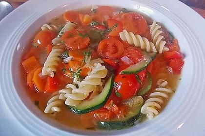 15 Minuten Gemüse-Nudel-Suppe 34
