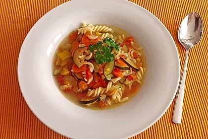 15 Minuten Gemüse-Nudel-Suppe 6
