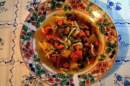 15 Minuten Gemüse-Nudel-Suppe 92