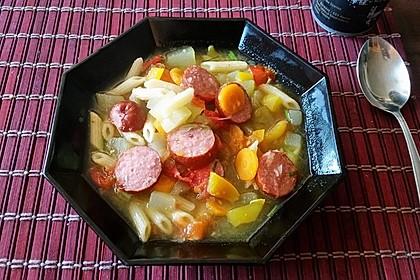 15 Minuten Gemüse-Nudel-Suppe 15
