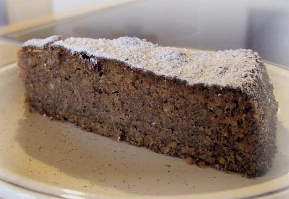 Mandel - Schoko - Kuchen mit Rum (Rezept mit Bild ...