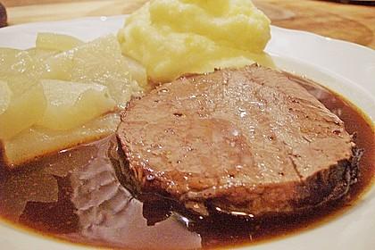 Münchner Soßfleisch (oder Saures Rindfleisch oder Böfflamott)
