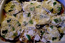 Auberginen - Lasagne mit Basilikum und Mandeln