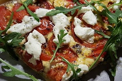 Tomaten - Tarte mit Ziegenkäse 6