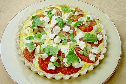 Tomaten - Tarte mit Ziegenkäse 11