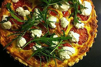 Tomaten - Tarte mit Ziegenkäse 10