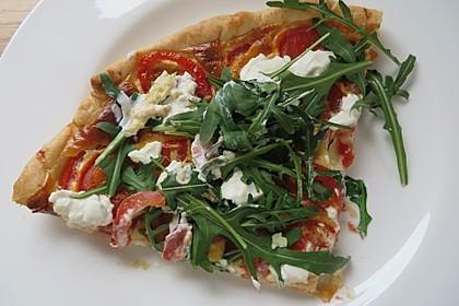 Tomaten - Tarte mit Ziegenkäse 4