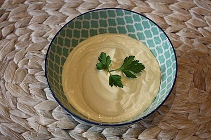 Mayonnaise mit dem Pürierstab hergestellt 3
