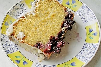 Rührkuchen mit Blaubeeren und weißer Schokolade 7