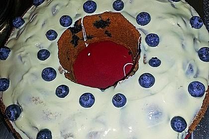 Rührkuchen mit Blaubeeren und weißer Schokolade 15