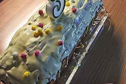 Rührkuchen mit Blaubeeren und weißer Schokolade 20