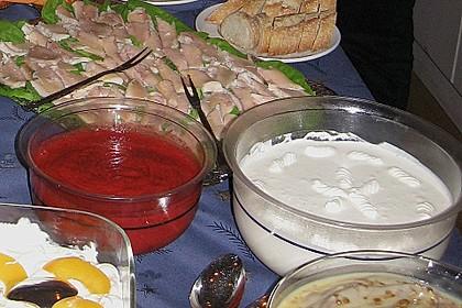 Kokos Panna Cotta mit Erdbeerpüree 10