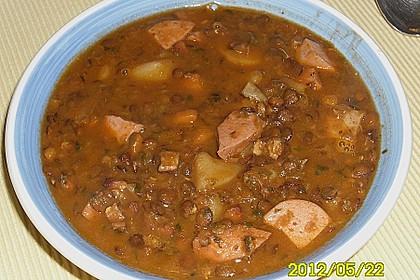 Linsensuppe aus dem Schnellkochtopf mit Balsamicoessig 1