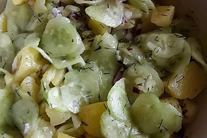 Kartoffel - Gurkensalat nach Oma Luise 44